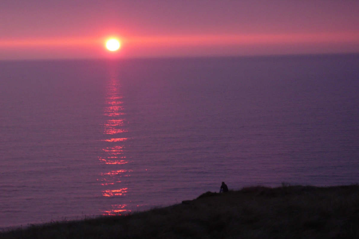 Sunset over Perranporth.